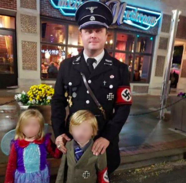 Hitler costume Halloween son dad
