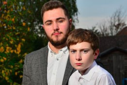 orphaned teen vows to look after little brother