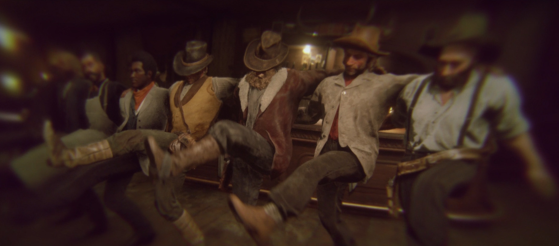 red dead redemption characters dancing