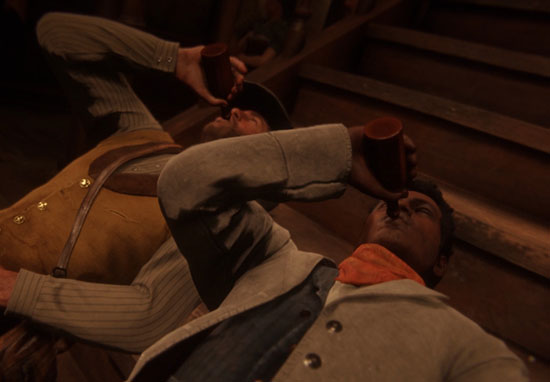 red dead redemption characters drinking