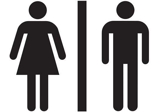 Gender toilet sign