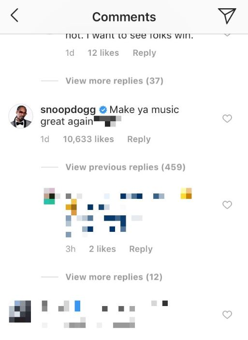 instagram comment screenshot