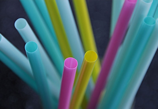 plastic straws