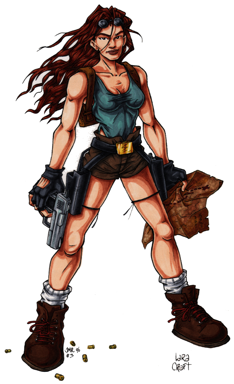 lara croft concept art
