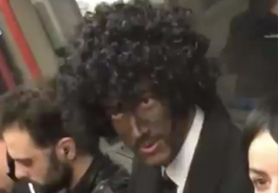 Man dresses in blackface on tube