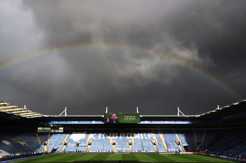 King Power Stadium rainbow