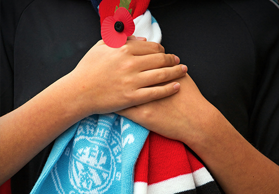 City United scarf Poppy