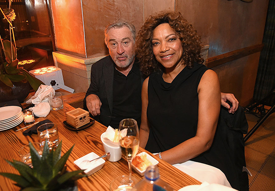 Robert De Niro and wife