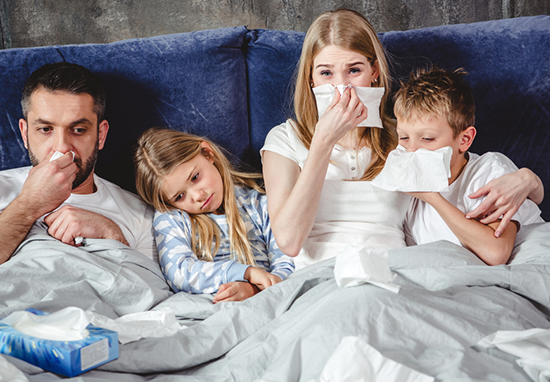 seven out of ten parents think they have passed colds on to their kids.