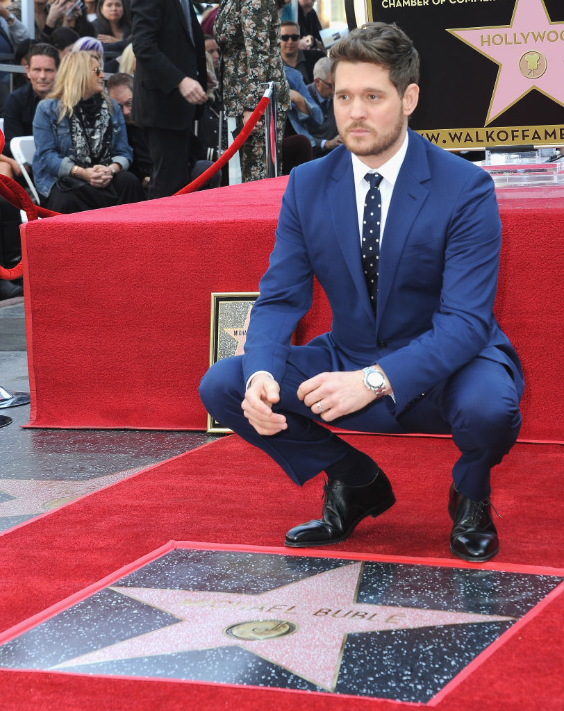 Michael Buble Accepts Star