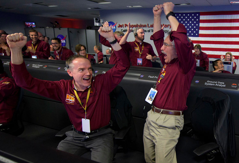 Nasa office cheering
