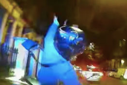 Dashcam footage shows moped gangs getting hit