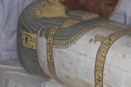 Female mummy found perfectly preserved in unopened coffin.