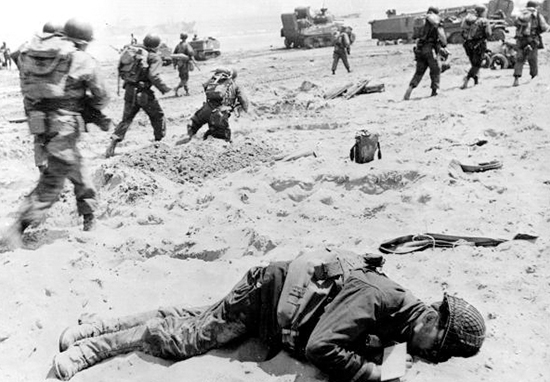 Normandy beach World War 2