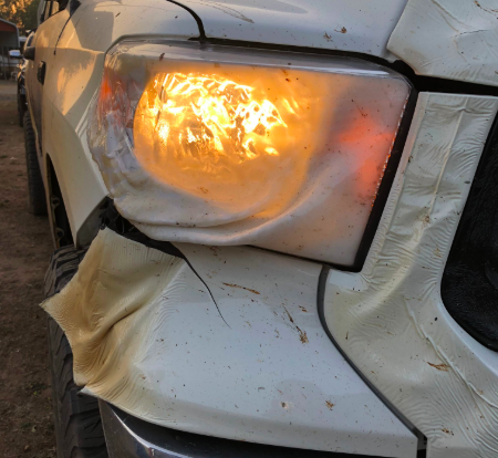 Nurse drove melting car through California fires