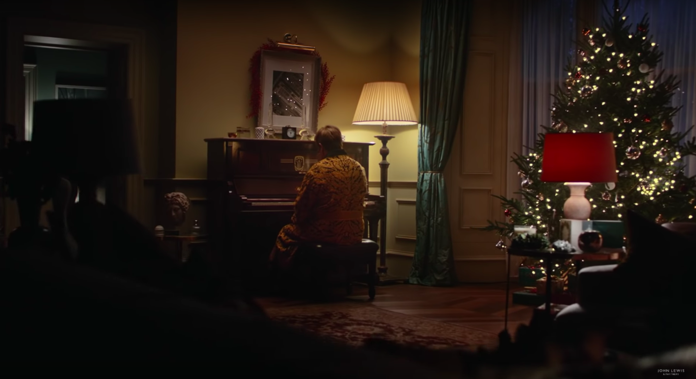 new elton john advert for christmas