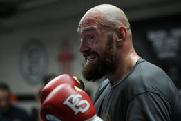 Tyson Fury in boxing ring