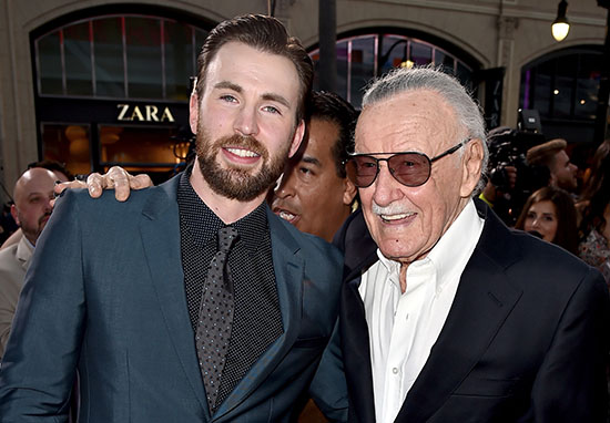 Stan Lee and Chris Evans