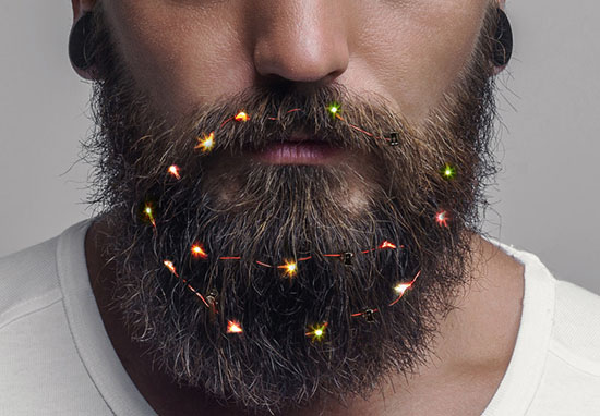 Kimberly and Beck - For Whimsical Whiskers, Check Out Beard Lights