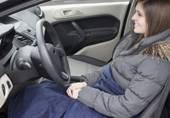 Electric heated car blanket