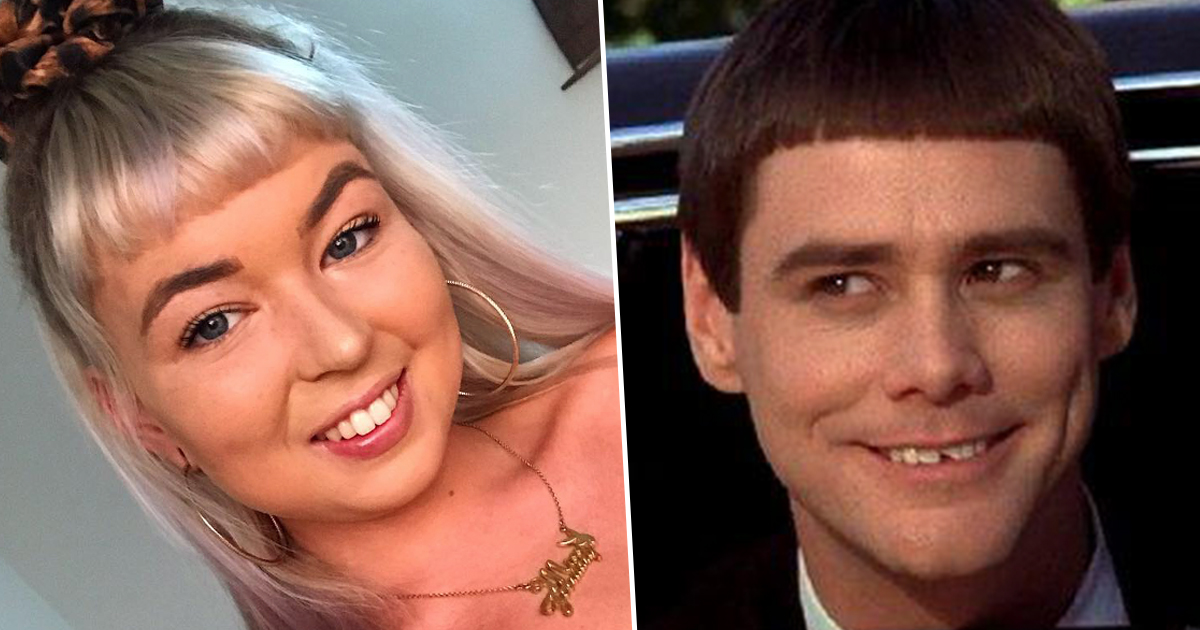 girl gives boyfriend horrendous dumb and dumber haircut
