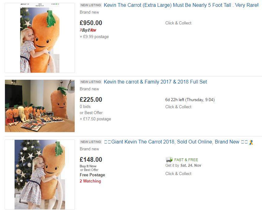 eBay Kevin the Carrot