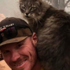 A Firefighter Rescued Cat From US Wildfire, Now She Won't Leave Him Alone