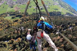 two men one hang glider