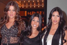 Khloe Kourtney and Kim throwback photo of glow up