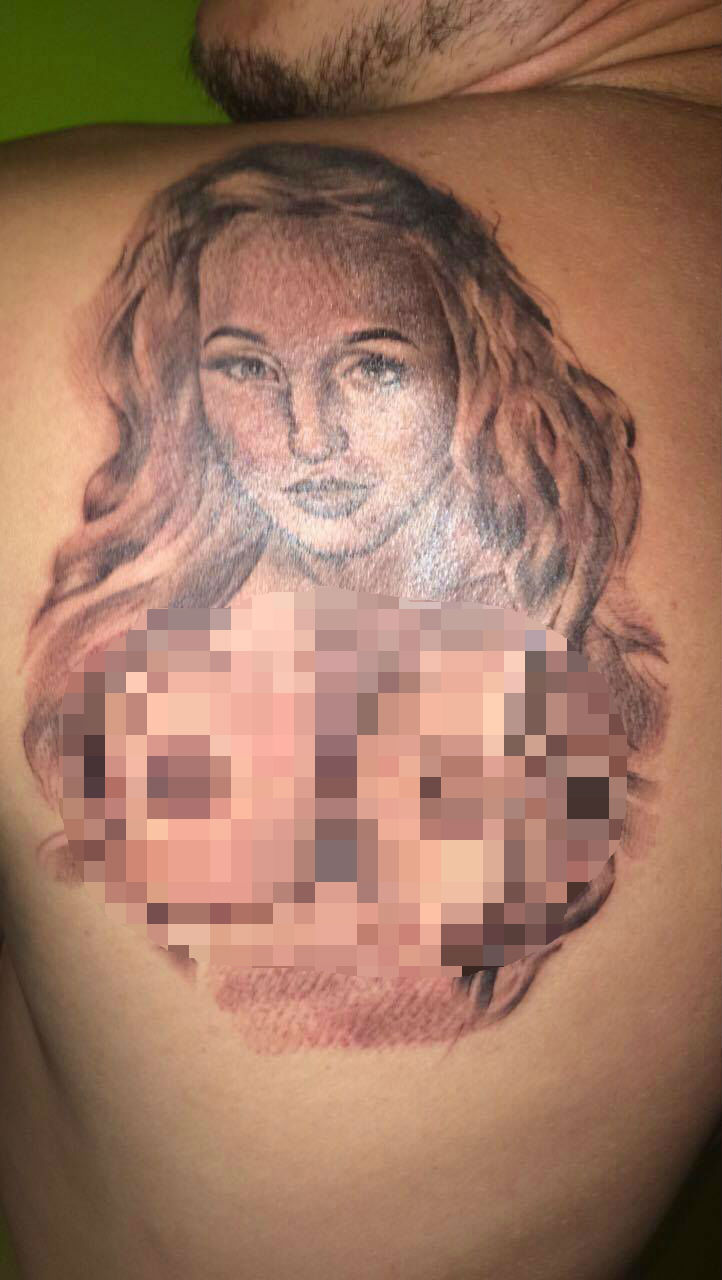 Tattoo of girlfriend