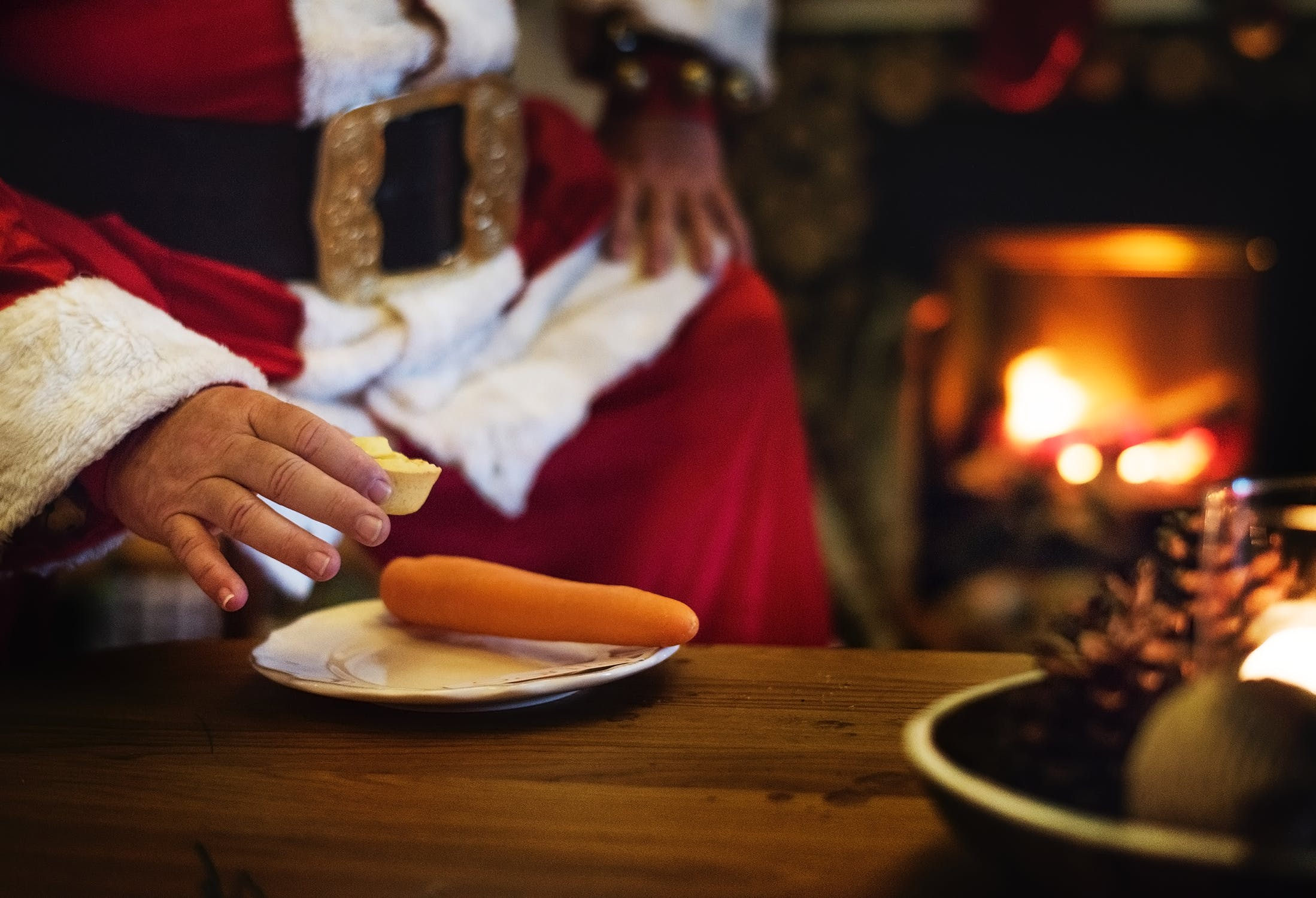 Kids who believe Santa's real put out mince pies and a carrot for rudolph