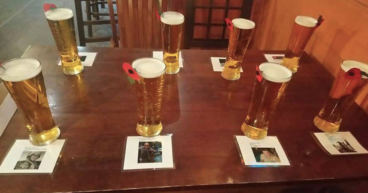 Man buys pints for fallen comrades