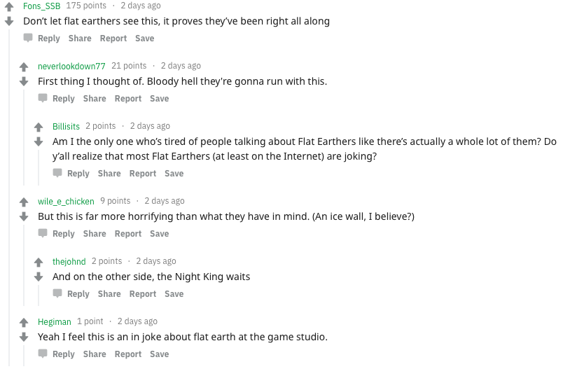 Red dead flat earth map comments