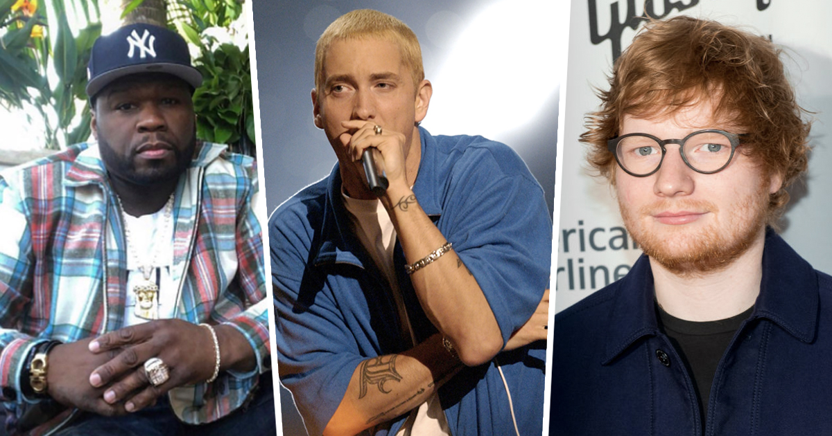 50 Cent, Eminem, and Ed Sheeran