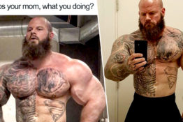 Bodybuilder responds to meme.