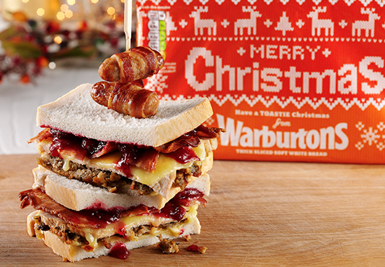 Christmas leftover sandwich