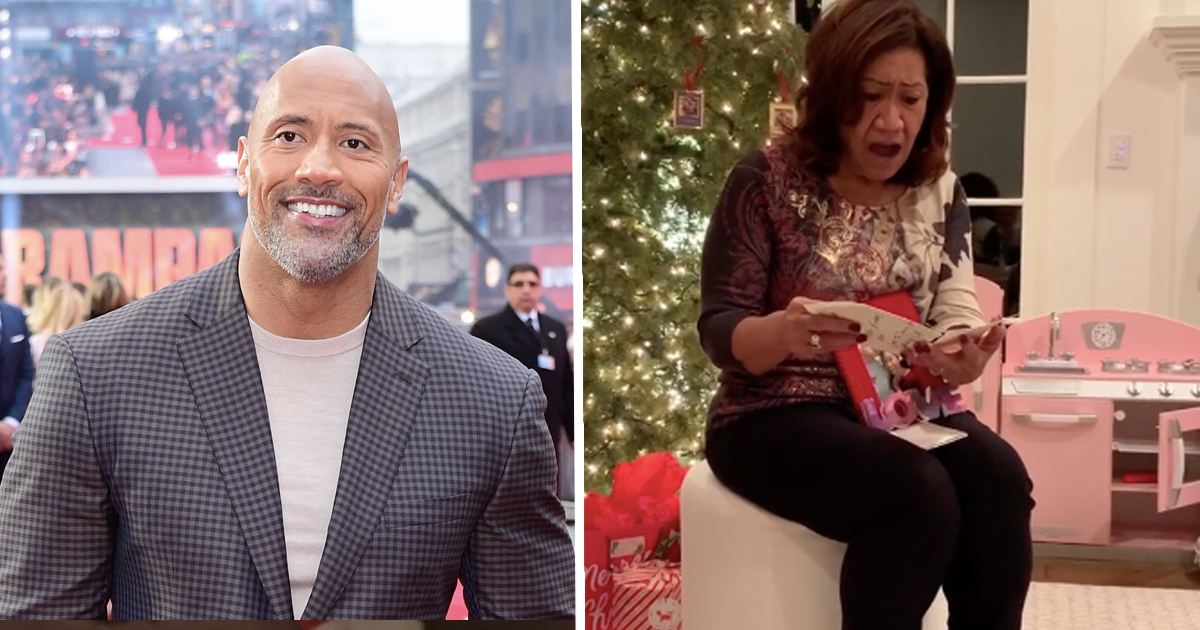 Dwayne Johnson and his mum