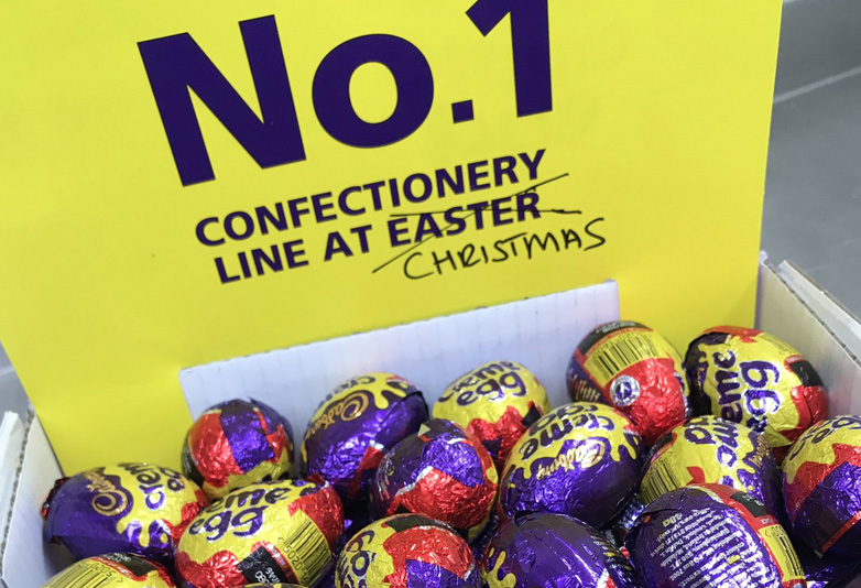 Creme Eggs on sale Christmas