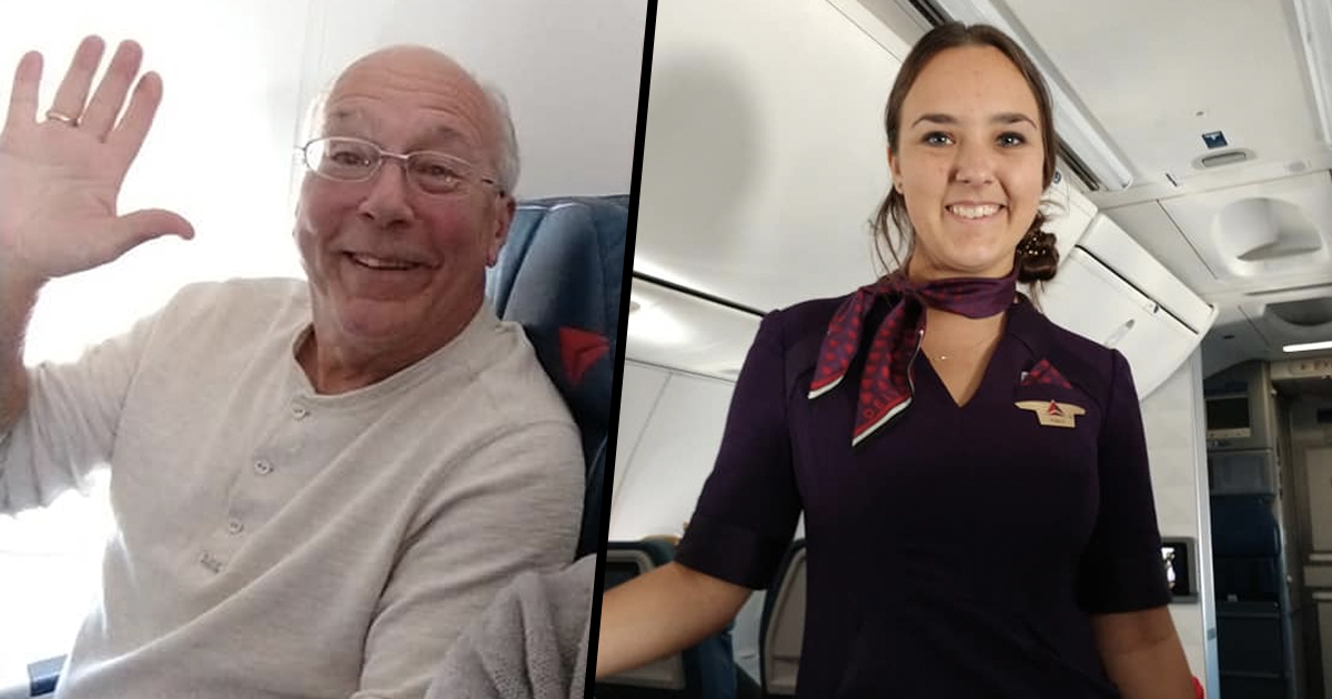 Dad and daughter on flight