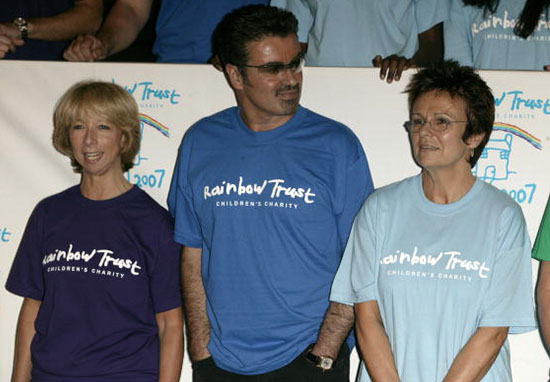 George Michael at an event for Rainbow Trust