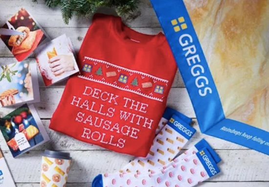 Greggs now selling pasty themed stocking fillers.