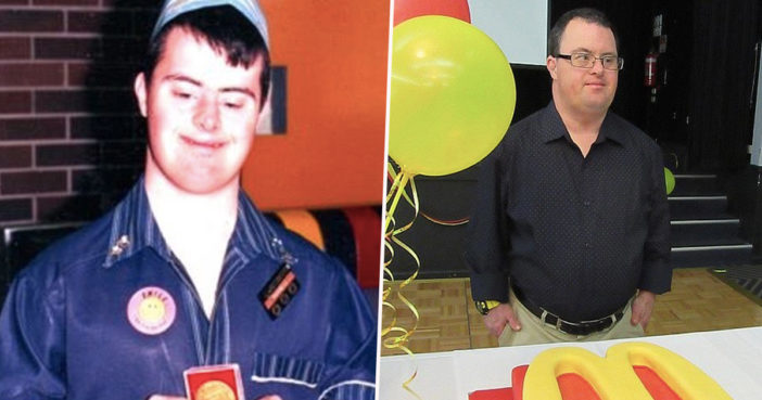 Down's Syndrome McDonalds employee retires