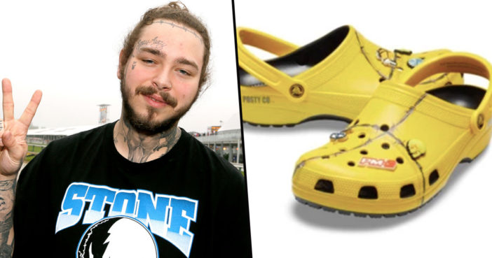 Post Malone Crocs are about to go on sale.