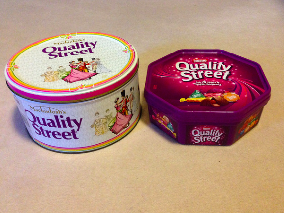 Quality Streets shrink in size