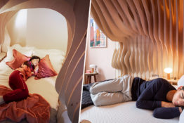 New boutique hotel helps guests literally sleep like babies.