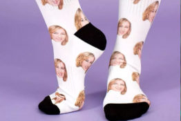 Socks with best friends face on