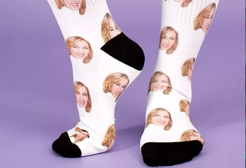 Socks with best friends face