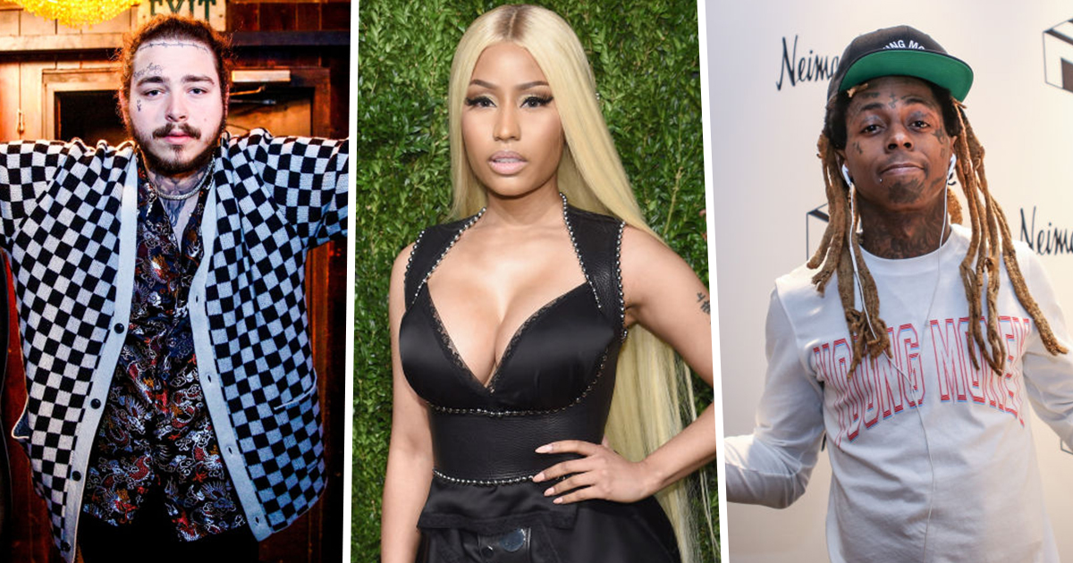 Post Malone, Nicki Minaj, and Lil Wayne
