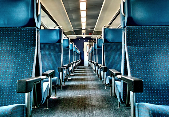 Train carriage seats