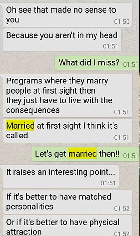 Texts about getting married